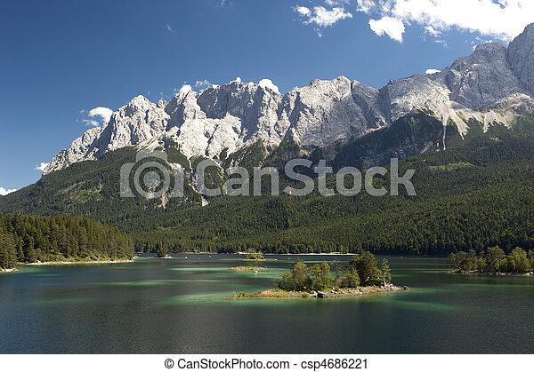 lake eibsee in germany - csp4686221