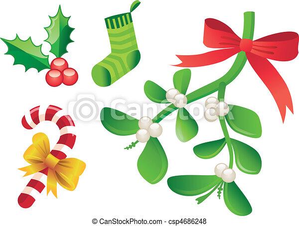 Christmas ornament icon - csp4686248