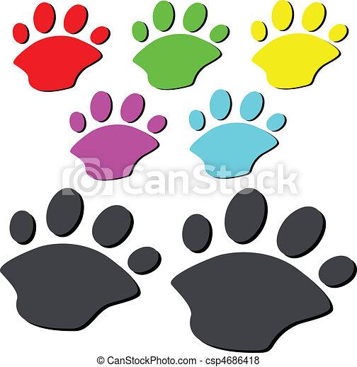 bear paw illustration - csp4686418