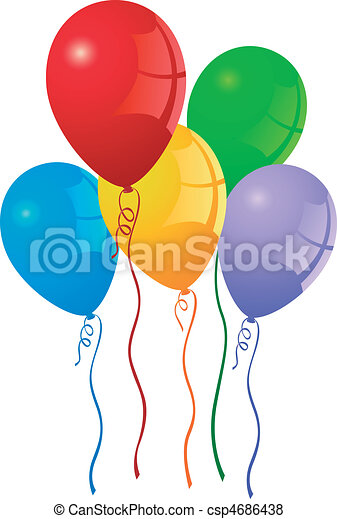 party balloons - csp4686438
