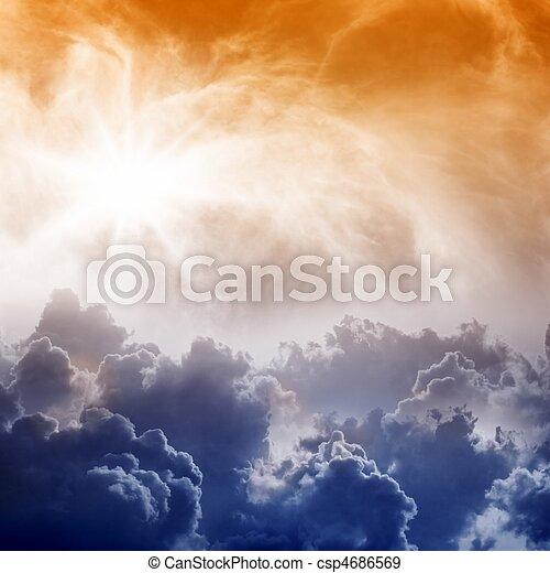 Impressive view form heaven - csp4686569