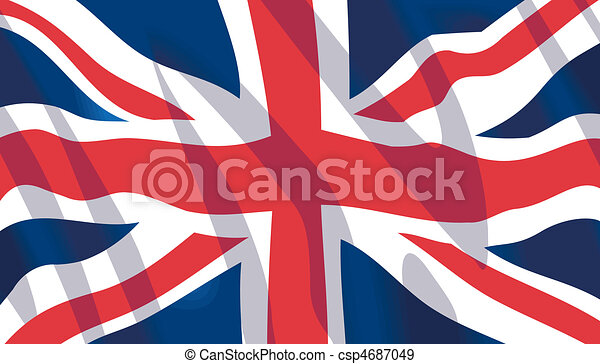 Waving British National Flag - csp4687049