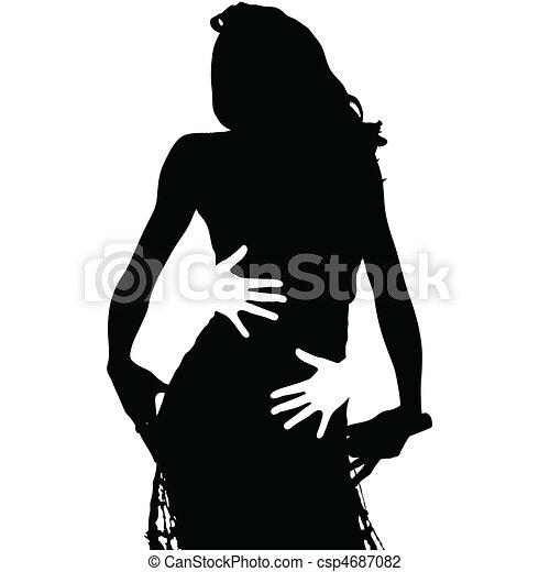 black girl and hug - csp4687082