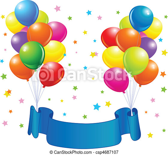 Birthday balloons design - csp4687107