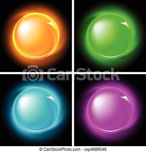 Buttons set (NO gradient mesh) - csp4688548
