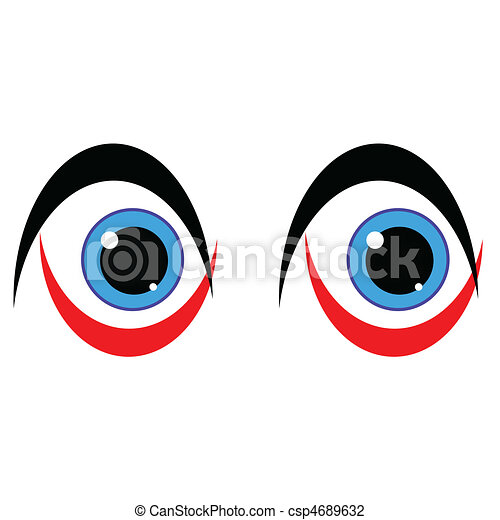 blue eye art on white background - csp4689632