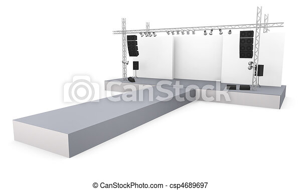 Fashion Show Drawings Empty Fashion Show Stage With