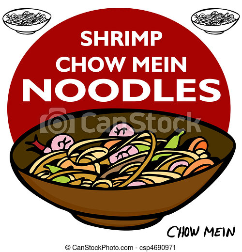 Shrimp Chow Mein Noodles - csp4690971