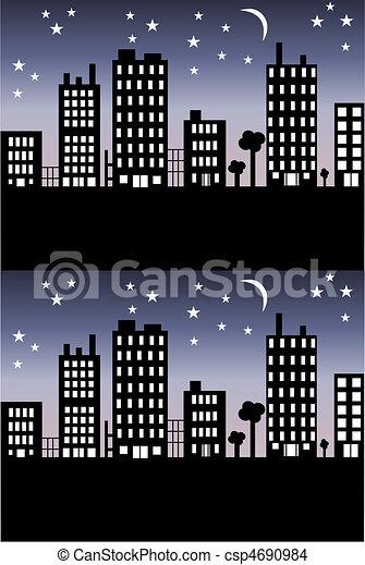 city skyline - csp4690984