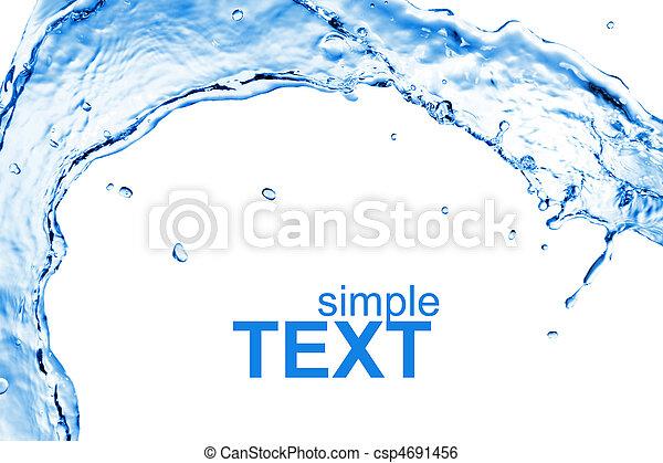 Wasser, Abstrakt, Spritzen, Freigestellt - csp4691456