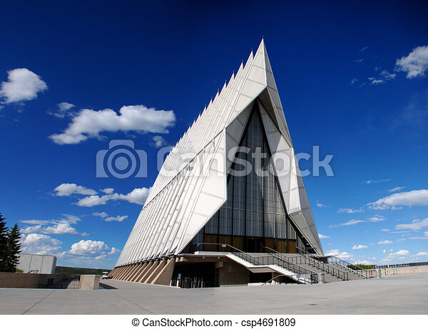 Stock Illustration of Air Force Academy Cadet Chapel ...