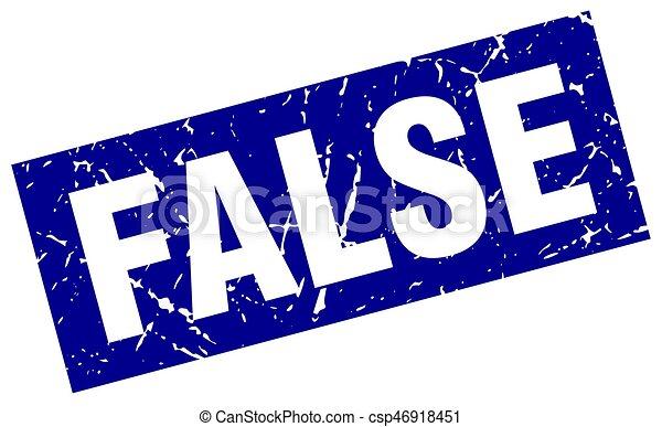 square grunge blue false stamp - csp46918451