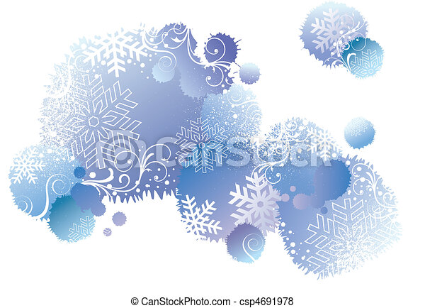 winter background, vector - csp4691978