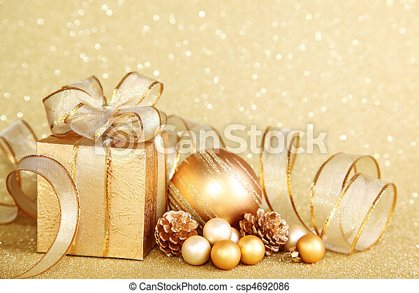 Christmas gift box - csp4692086