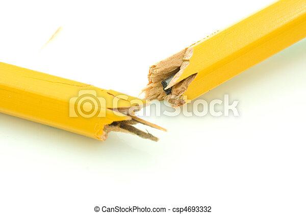 Broken Pencil - csp4693332