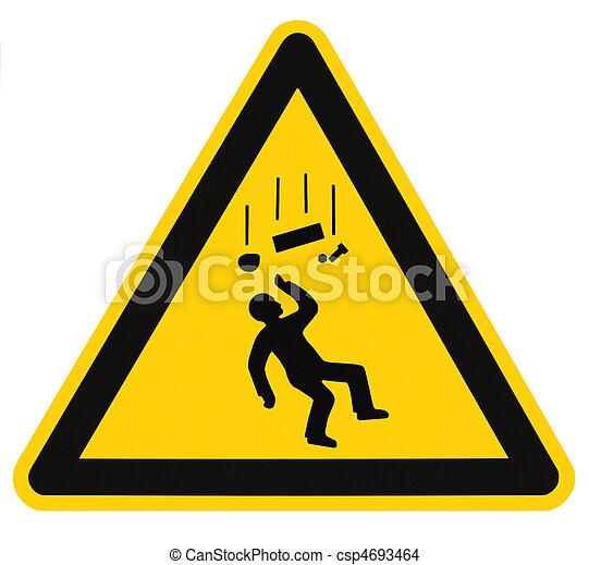 pericolo,  macro, isolato, segno, oggetti, Cadere, avvertimento - csp4693464