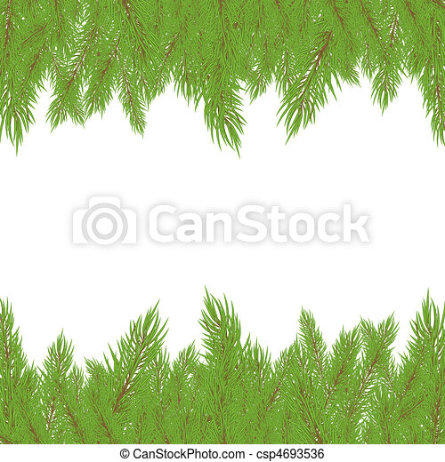 Christmas Fur-tree. Vector illustration - csp4693536
