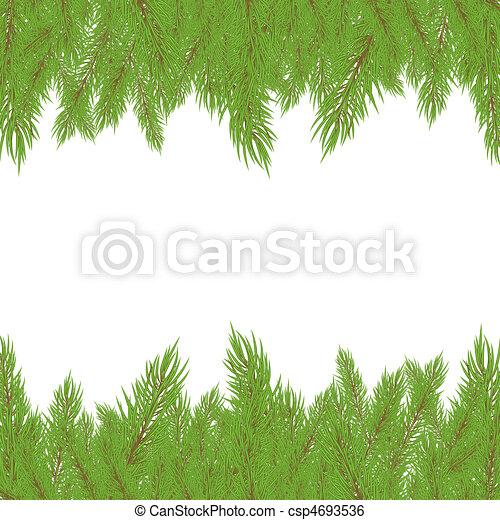 Christmas Fur-tree. Vector illustration - csp4693536