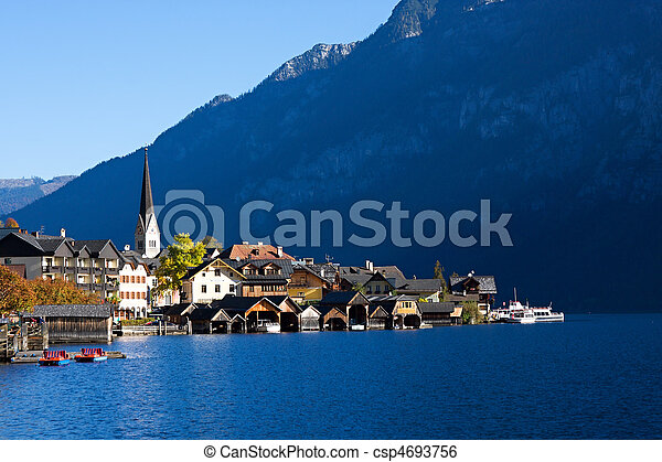 Beautiful Hallstatt in Austria - csp4693756