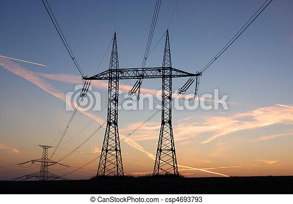 Electricity pylons - csp4693793
