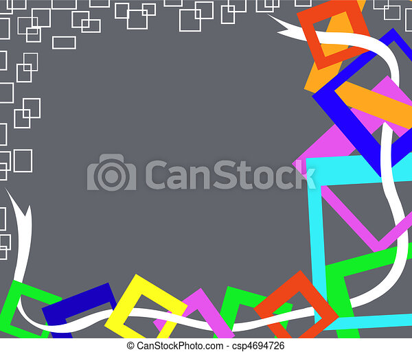 gray background with squares - csp4694726