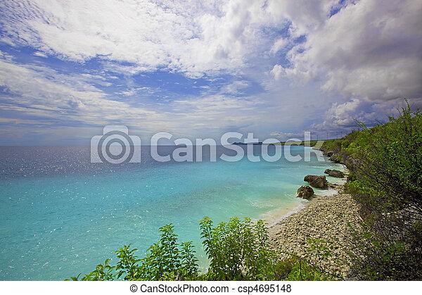 View over the beautiful coastline on Bonaire - csp4695148