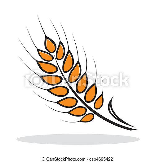 Orange abstract wheat - csp4695422