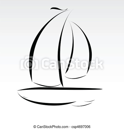 boat lines illustration - csp4697006