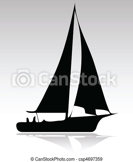 boat sport version silhouette - csp4697359