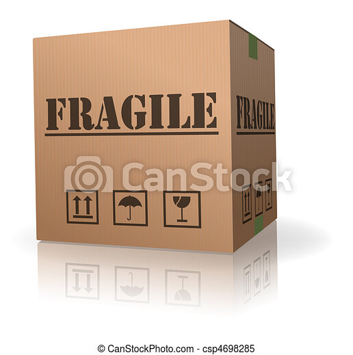 fragile post package cardboard box - csp4698285