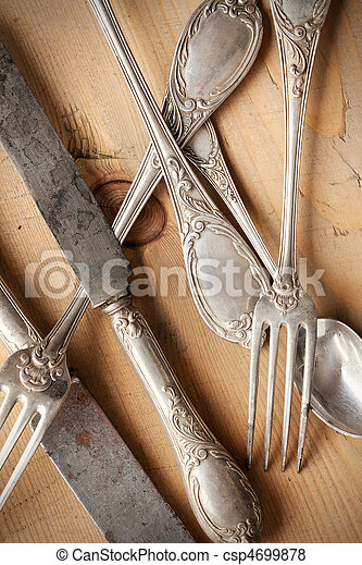 old cutlery - csp4699878