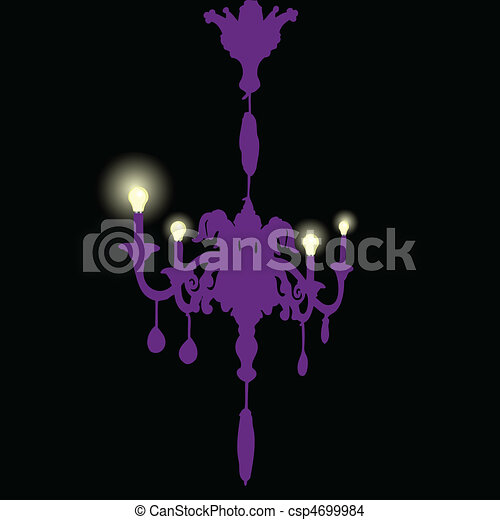 chandelier with bulbs - csp4699984