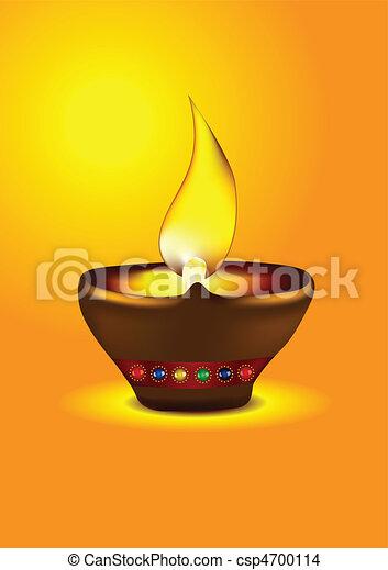 Diwali Diya - csp4700114