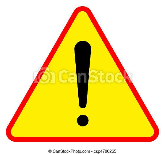 Warning sign - csp4700265
