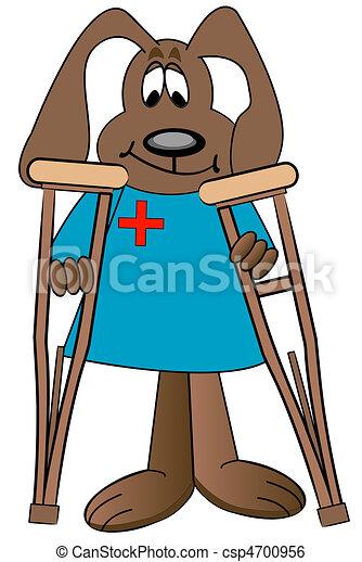 dog cartoon health care professional - csp4700956