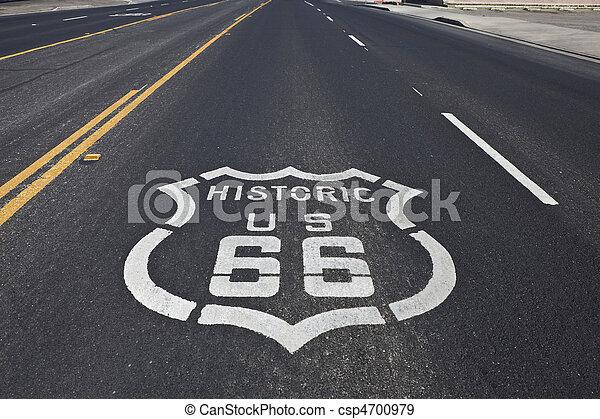 Historic Route 66 - csp4700979