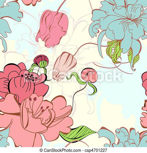 Floral seamless pattern - csp4701227