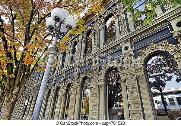 predios, centro cidade, histórico,  Salem,  Oregon - csp4701520