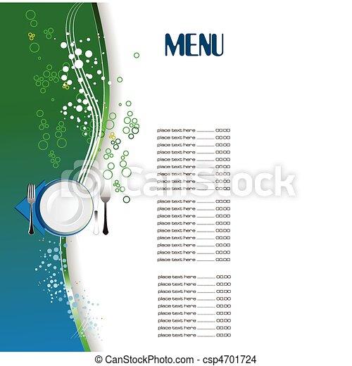 Restaurant (cafe) menu. Colored vec - csp4701724