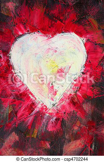 Photo de coeur forme peinture huile sur toile comme for Forme peinture