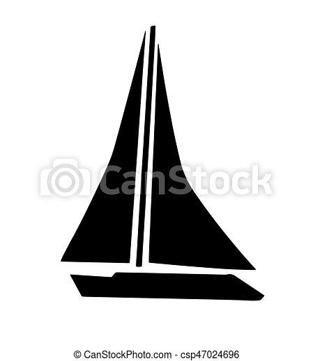 Segelboot zeichnung schwarz  EPS Vektoren von segelboot, vektor, silhouette, schwarz - schwarz ...