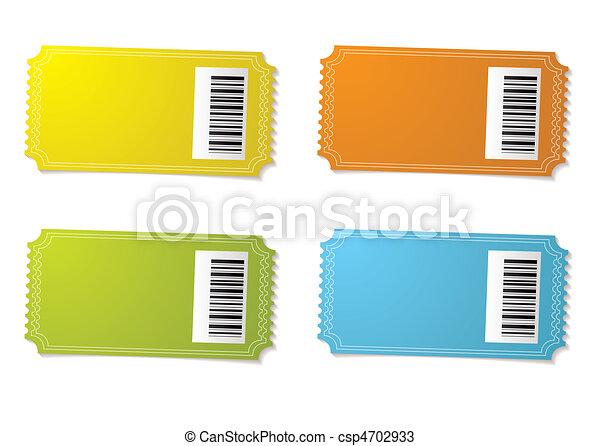 Concert Ticket Barcode Ticket Stub Barcode