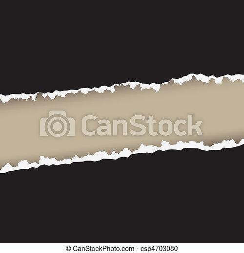 Paper tear rough edges - csp4703080