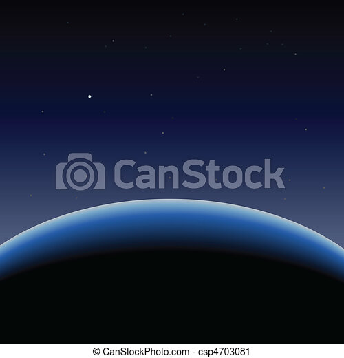 Horizon of blue planet earth - csp4703081