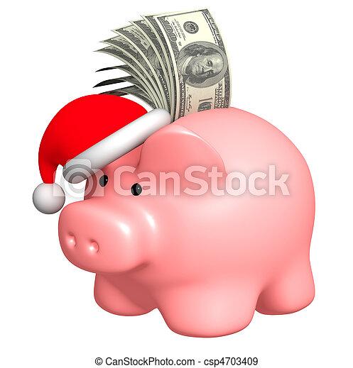 Money to Christmas - csp4703409