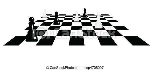 chessboard with pawns - csp4705097