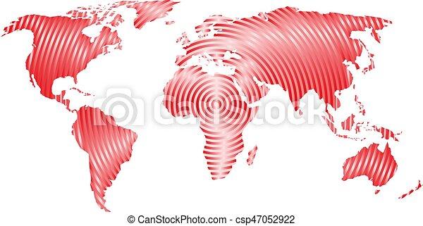 mundial, mapa, concepto, mundo, comunicación, moderno, anillos, gris, fondo., vector, diseño, ondas, radio, concéntrico, blanco, papel pintado - csp47052922