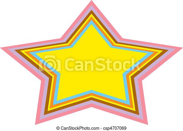Background Urban Star Clip Art - csp4707069
