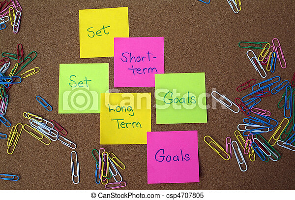 Stock Images of Goal setting - Set long term and short ...