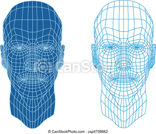 wireframe faces - csp4708662